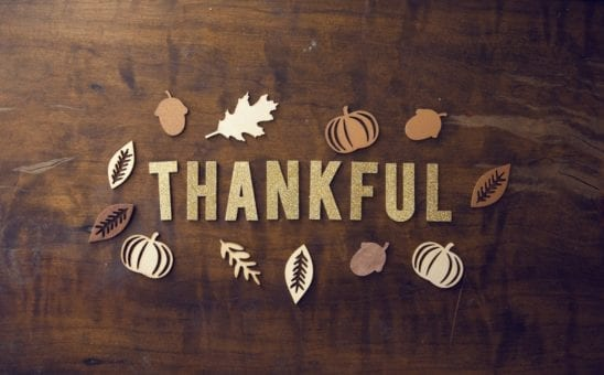Remember what you have to be thankful for.